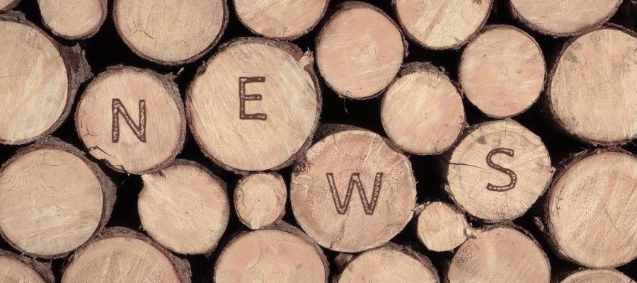 SÜSSHOLZ Holzstapel mit News