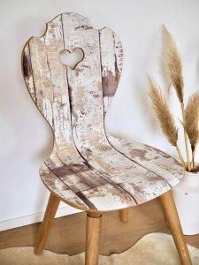 Holzstuhl Boho Stil aus Eiche
