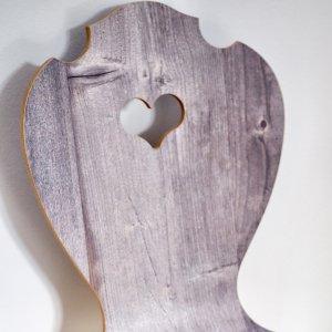 Herzerlstuhl Rückenlehne in Altholz Stil