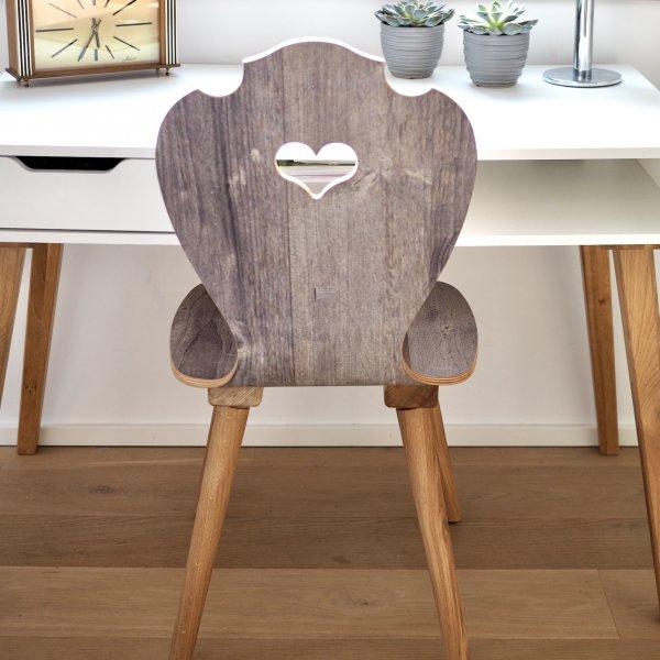 Herzerlstuhl als Schreibtischstuhl im Home Office