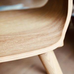 Eiche Sitzschale von SÜSSHOLZ Herzerlstuhl aus Leimholz