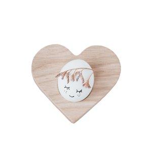 Ei mit Kränzchen in Herz Eierbecher aus Holz
