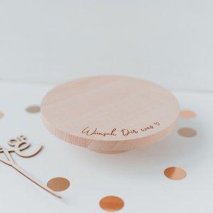 Wünsch Dir was Kuchenplatte aus Holz für Geburtstagskuchen