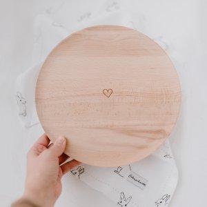 Platzteller aus Holz im Scandi Style