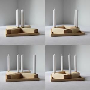 Adventskranz minimalstoisch aus Holz