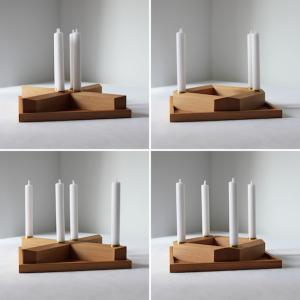 Weihnachtskranz minimalitisch aus Holz
